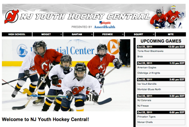 NJ Youth Hockey Page on NewJerseyDevils.com