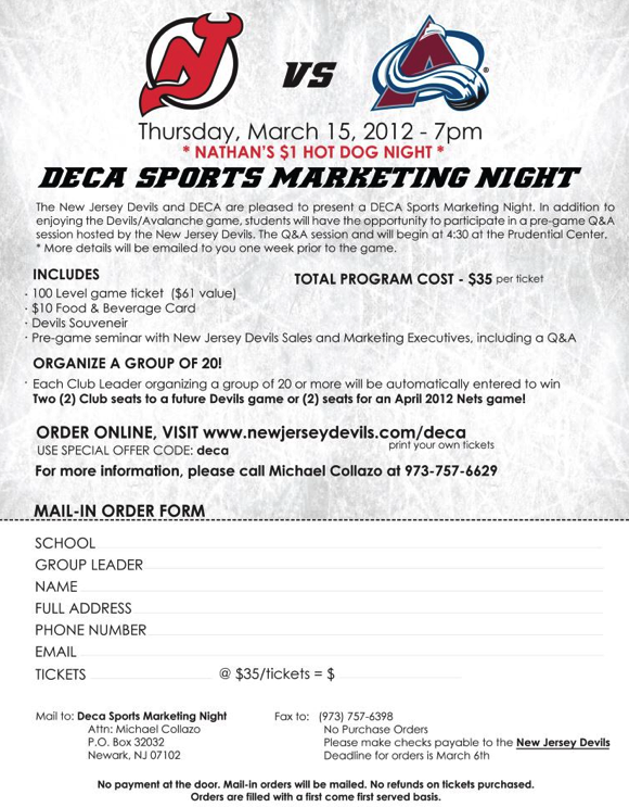 DECA Sports Marketing Night