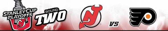 2012 Stanley Cup Playoffs Round 2, New Jersey Devils vs Philadelphia Flyers