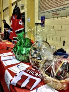 War To Restore NJ Hockey Game, Auction Table