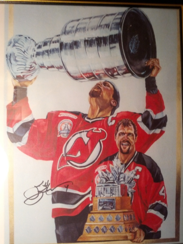Scott Stevens painting done by Kevin Clark